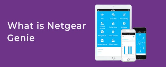 Netgear genie app is opened on two smartphones and one tablet