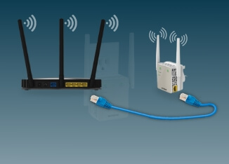 Connect router and extender with Ethernet cable