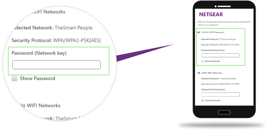 choose new passoword for netgear_Ext